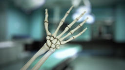 Moving human hand and wrist skeleton model Footage
