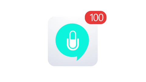 animation voice chat icon on white background. Footage with alpha channel Footage