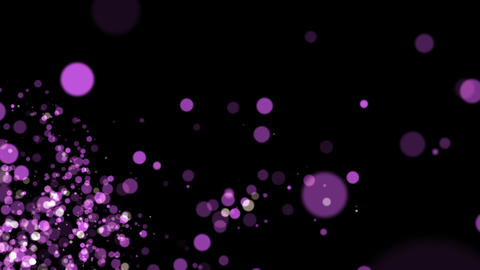 Purple Particles Background Animation