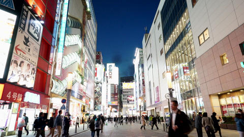 Akihabara Electric Town the famous place of Tokyo with crowd of people in Chiyoda ward of Tokyo Live Action
