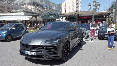Lamborghini Urus SUV Front View Live Action