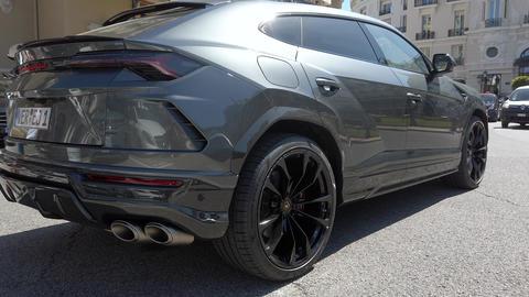 Lamborghini Urus SUV Rear View Live Action