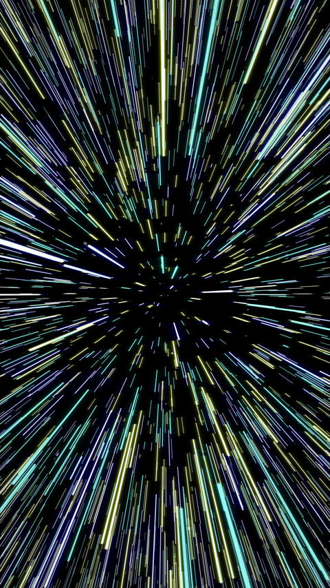 Hyperspace Travel Vertical Animation