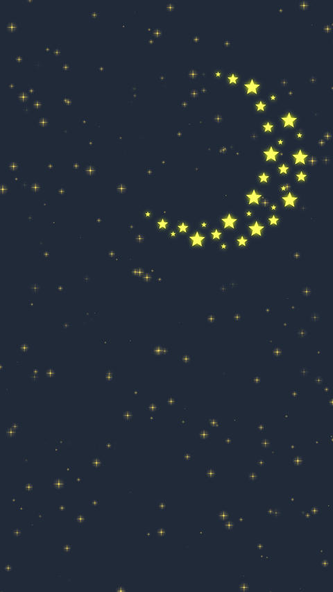 Stars and Moon Vertical Animation