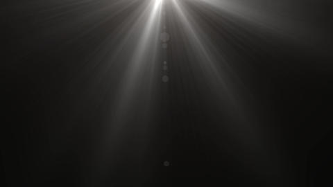 Isolated white light rays animation. Shine or sun effect on black screen. Glitter, shiny, bright, Animation