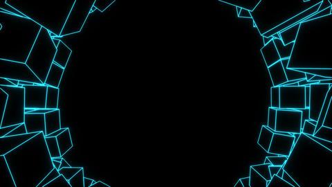 Box , crash , blue line Animation
