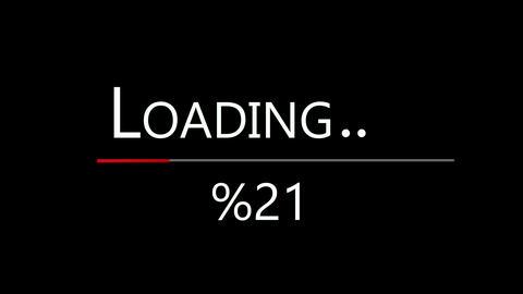 Loading bar. Loading transfer download 0-100% . Animation on black screen Animation