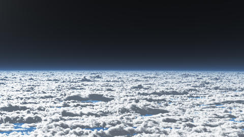 Earth View Above the Cloud 01 4K Animation