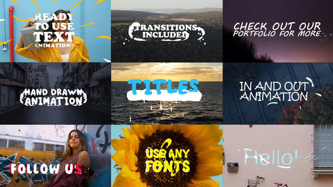 2D Lyric Titles Motion Graphics Template