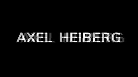 From the Glitch effect arises AXEL HEIBERG. Then the TV… Stock Video Footage