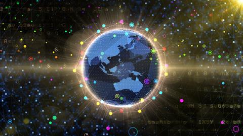 Earth on Digital Network 18 P2BS 4k GIF