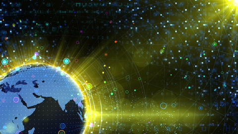 Earth on Digital Network 18 P2Bx 4k Animation
