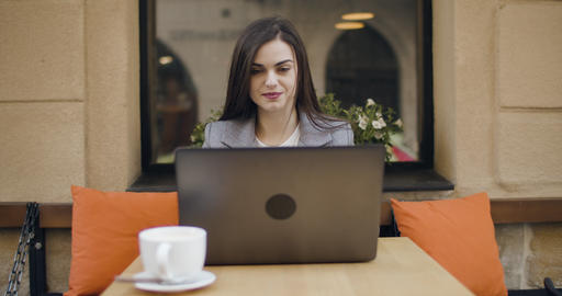 Businesswoman with Laptop Footage