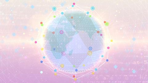 Earth on Digital Network 18 P2W 4k Animation