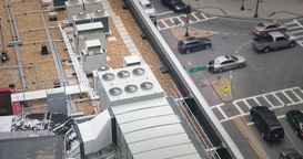 Rooftop Industrial Air Conditioner Units Footage