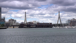 Leonard P. Zakim Bunker Hill Bridge Establishing Shot Footage