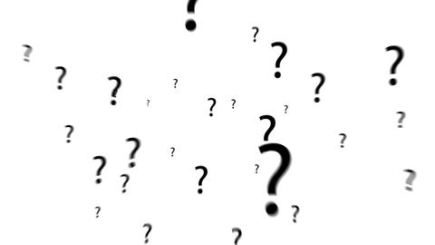 Question Mark Zoom Out Of Screen - White Background stock footage