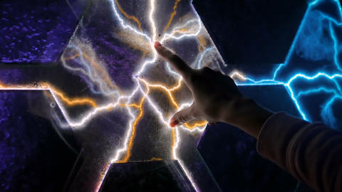 Electricity, education, science, futuristic and physics concept Footage