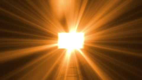 Yellow, orange light rays on black background. Flare, sunlight, shiny lens light, spotlight Animation