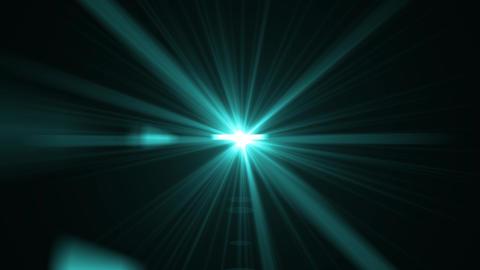 Isolated blue or aqua light rays animation. Shine on black screen. Glitter, shiny, bright, flare Animation