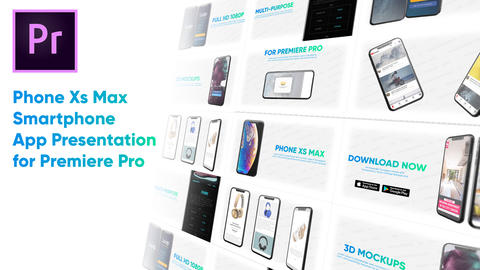 Phone Xs Max - Smartphone App Presentation for Premiere Pro Premiere Pro Template