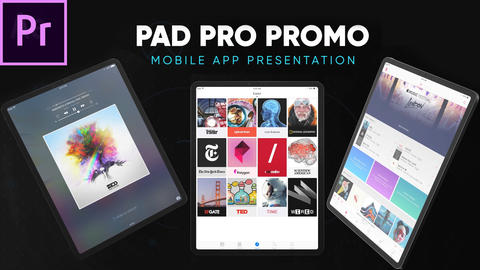 Pad Pro - App and Website Presentation for Premiere Pro Premiere Pro Template
