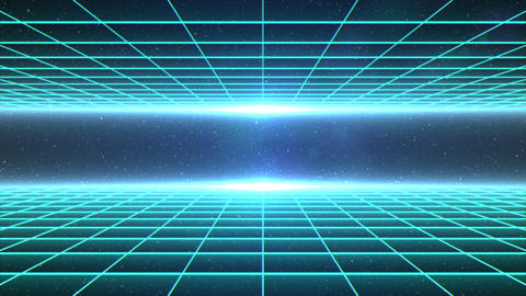 Horizontal matrix grid moving towards camera in space Animation