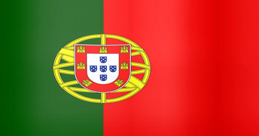 Waving Flag of Portugal Looping Background Live Action
