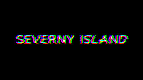 From the Glitch effect arises SEVERNY ISLAND. Then the TV turns off. Alpha channel Premultiplied - Animation