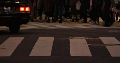 Walking people body parts at Shibuya crossing at night ライブ動画
