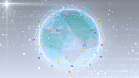 Earth on Digital Network 18 Q1W 4k Animation