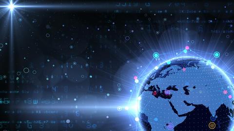 Earth on Digital Network 18 Q1Bx 4k Animation