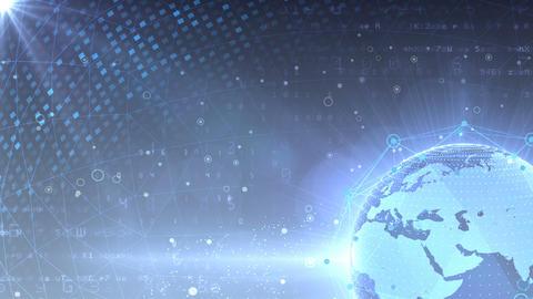 Earth on Digital Network 18 P1Gx 4k Animation