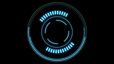 HUD element - futuristic loading pending screen, loopable parts, alpha mask included Animation
