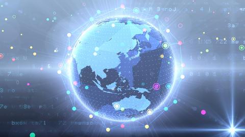 Earth on Digital Network 18 Q1G 4k Animation