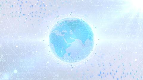 Earth on Digital Network 18 P1WS 4k Animation