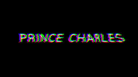 From the Glitch effect arises PRINCE CHARLES. Then the TV turns off. Alpha channel Premultiplied - Animation