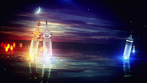 Ramadan Awesome Lakeview Background Animation
