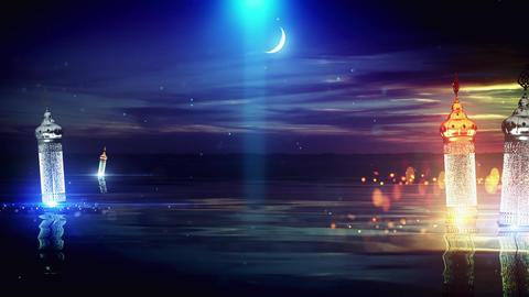 Ramadan amazing Lakeview background Animation