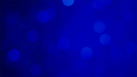 Abstract shiny soft light bokehs on dark blue background Animation