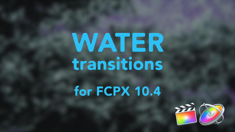 Water Transitions Apple Motion Template