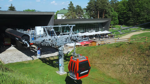 Lower cable car station on Pohorje mountain in Maribor, Slovenia in summer Footage