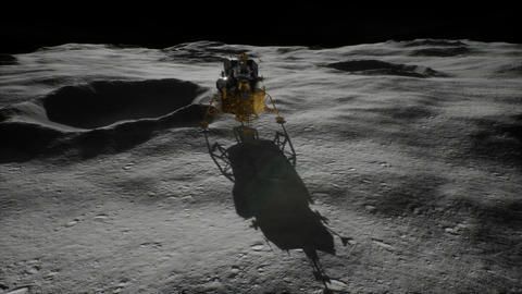 lunar landing mission on the Moon Footage