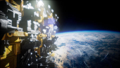motherships taking position over Earth for a coming invasion Footage