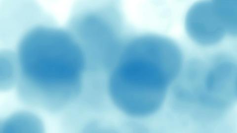 Sky Blue Bokeh Falling Rain Loop Background Animation