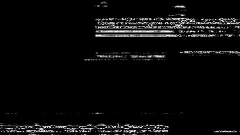 White Noise On Black Glitch Video Damage Background Animation