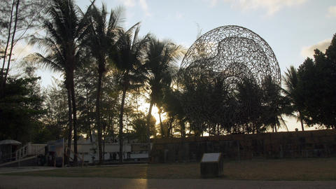 Tsunami Memorial Monument Sculpture, Kamala Beach, Phuket, Thailand Footage