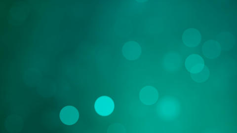 Abstract shiny soft light bokehs on blue background Animation