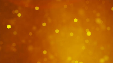 Soft Golden Colored Bokeh particle background animation Animation