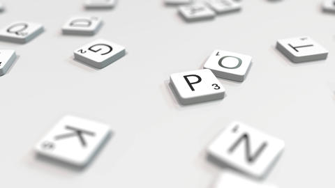PLAN word being made with scrabble letters. Editorial 3D animation ライブ動画